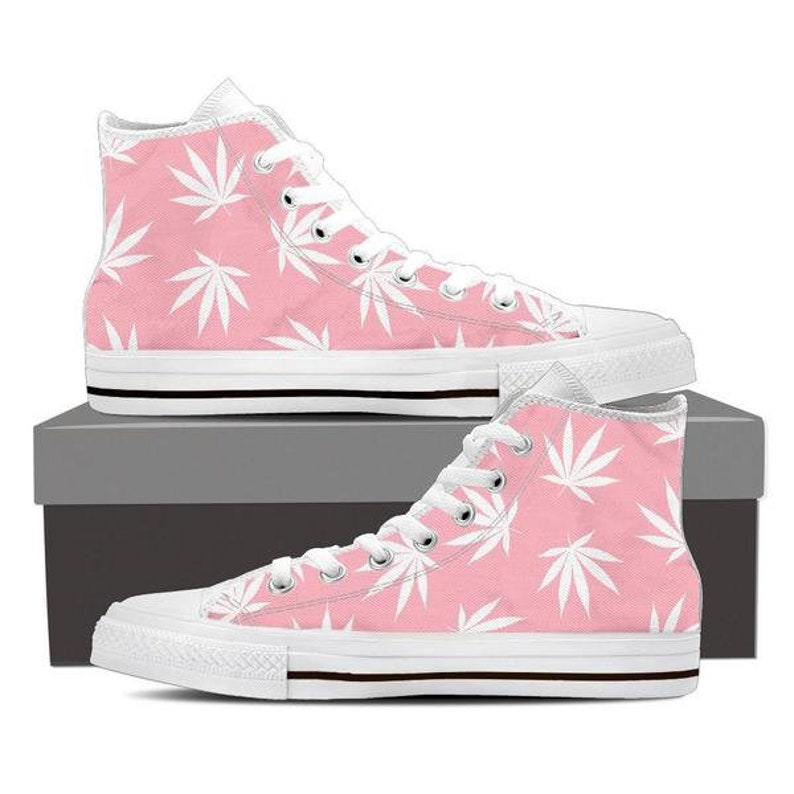 a2dd22afa9af0 Dank Master Weed Leaf Men's High Top Canvas Shoes Pink | Etsy