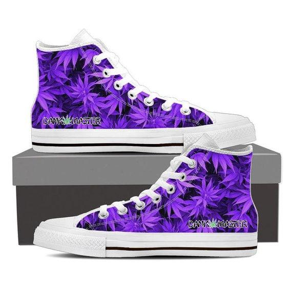 Dank Master women's shoes custom purple