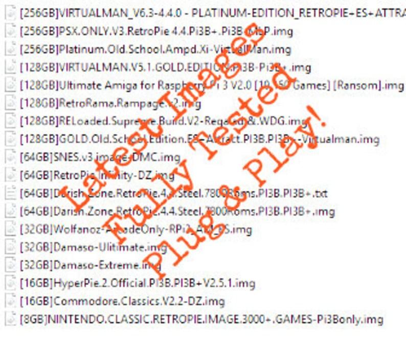 32GB, 64GB, 128GB, 256GB RetroPie 4 4, RecalBox and HyperPie Images for  Raspberry Pi 3B, 3B+, Zero - Retro Arcade Games, Unlimited Downloads