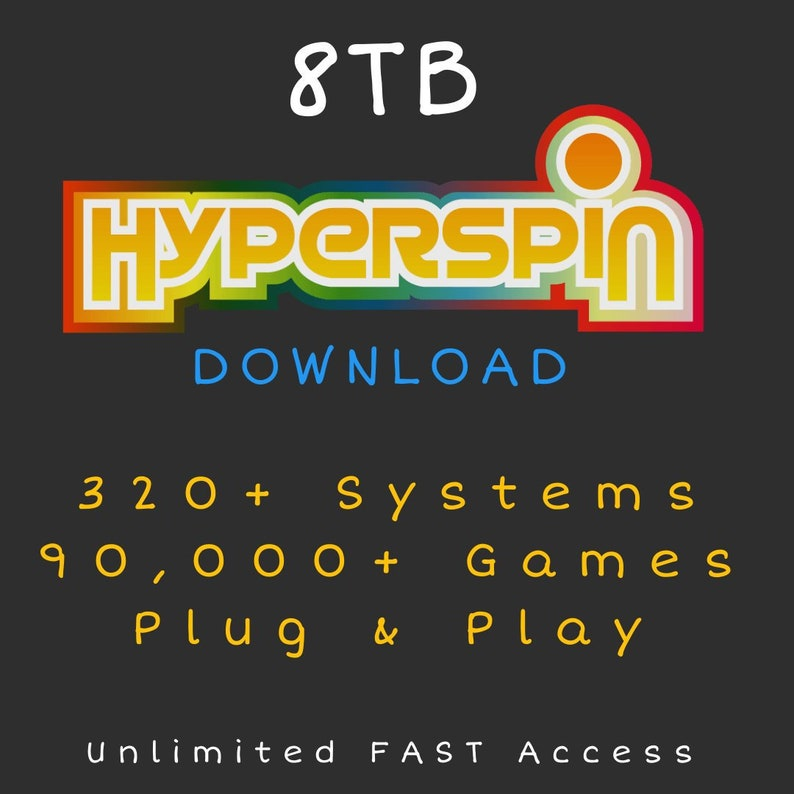 8TB Hyperspin Cloud Hard Drive - Retro Arcade Gaming - SYNC to Your Hard  Drive! - FLASH SALE!