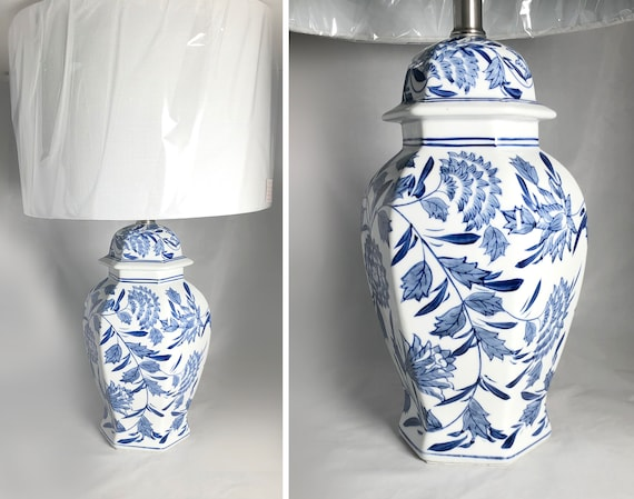 The Madeline Blue And White Chinoiserie Ginger Jar Lamp