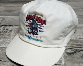 e8459c648cd Vintage 90s Walt Disney World Suprise 20 Year Anniversary Strapback Hat