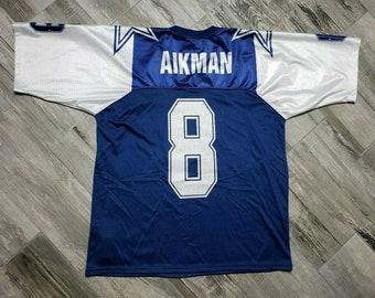 05d5a2a6b Vintage Troy Aikman Dallas Cowboys Wilson Football Jersey Men's Medium/Large