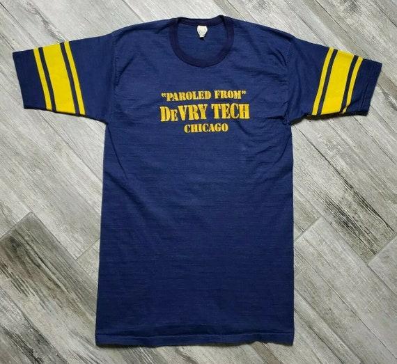 Vintage 60s Velva Sheen T-Shirt Paroled From Devry