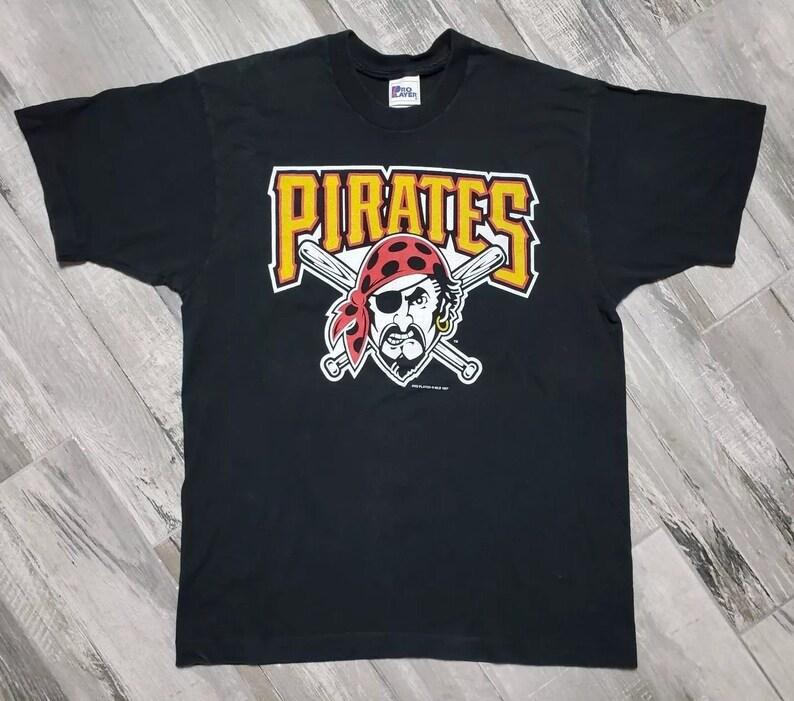 brand new 0791c 2fc61 Vintage 90s Pittsburgh Pirates T-Shirt Pro Player Men's size XL Black