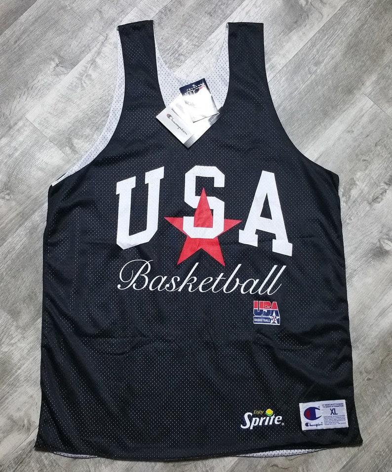 Vintage Champion USA Basketball Jersey size XL Sprite Olympics Dream Team NWT