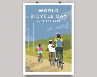 World Bicycle Day 2020 - Family Cycling Print