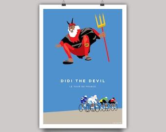 Tour de France Cycling Print. Didi the Devil