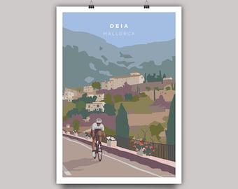 Deia Mallorca Cycling Print
