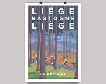 Liège–Bastogne–Liège Cycling Monument Print