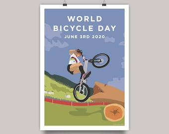 World Bicycle Day 2020 - Trials Cycling Print