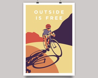 Outside is Free Women's Road Cycling Print