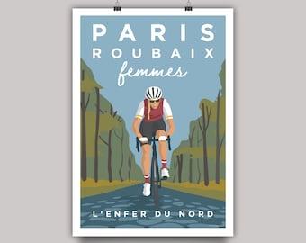 Paris Roubaix Femmes Cycling Print