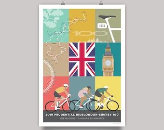 Prudential RideLondon 100 Personalised (or generic) Souvenir Art Print