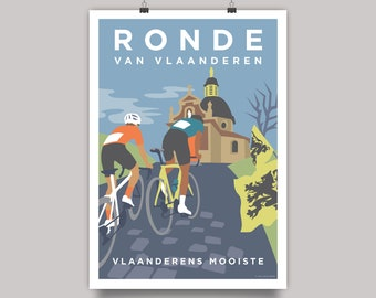 Ronde Van Vlaanderen (Tour of Flanders) Cycling Monument Print