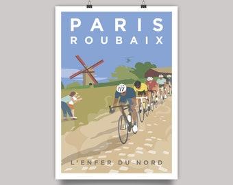 Paris Roubaix Cycling Monument Print