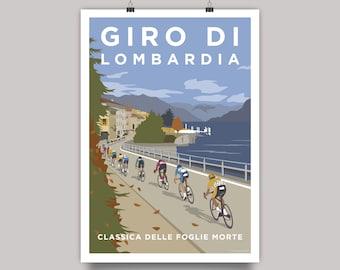 Giro di Lombardia Cycling Monument Print