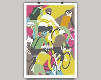 Bunch Riders Cycling Print