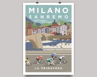 Milano Sanremo (Milan Sanremo) Cycling Monument Print