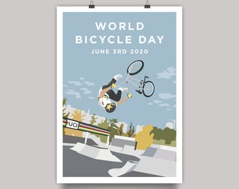 World Bicycle Day 2020 - BMX Freestyle Cycling Print