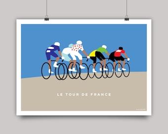 Tour de France Cycling Print - Peloton