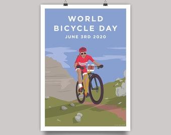 World Bicycle Day 2020 - Mountain Bike Cycling Print