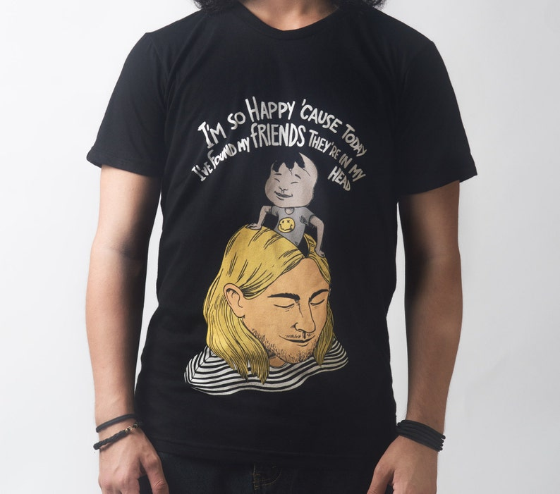 e1e477cf8218c Nirvana T-shirt Lithium Grunge Kurt Cobain Tee