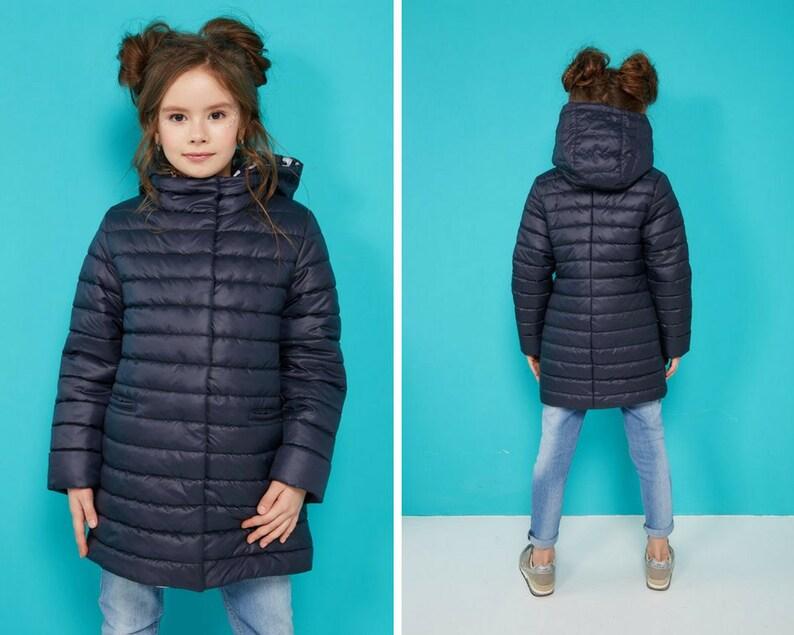 593118308c79 Navy blue puffer coat for junior girl autumn spring down