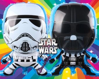 Star Wars Darth Vadar Storm Trooper Birthday Balloon balloons Party Supplies supply celebration decoration