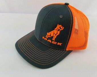 0319b3be Mack truck hat, Mack, Mack bulldog, mack truck bulldog, trucker hat, mack  designs, Richardson 112, 3d embroidery, truck driver, gift for him