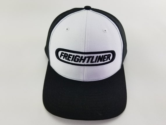 9bee53e77 Freightliner trucker hat, Freightliner, trucker, truck driver gifts, semi  truck, 18 wheeler truck, old school hats, Richardson, embroidery