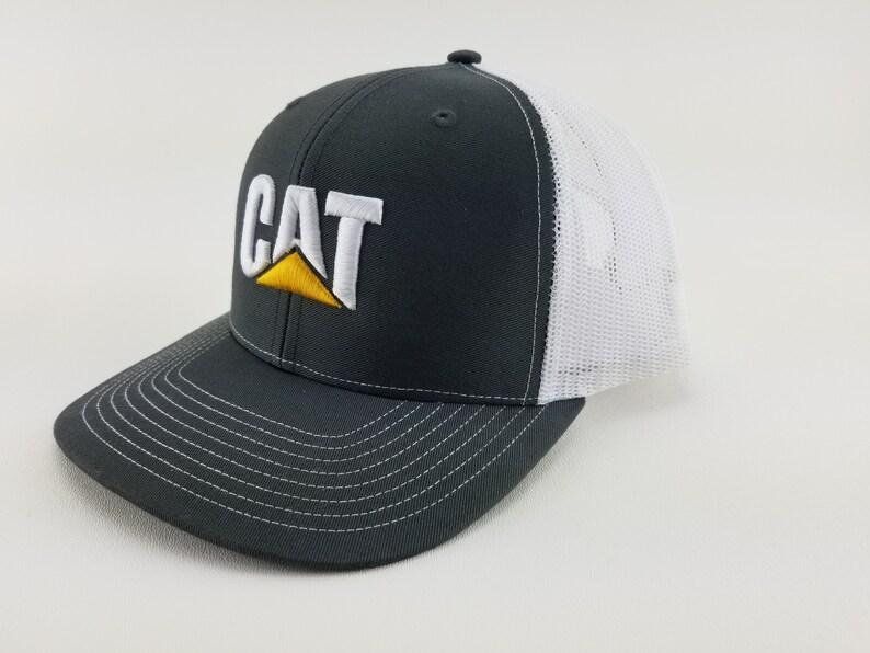 13591ac6 CAT trucker hat Richardson diesel Snapback cat hat | Etsy