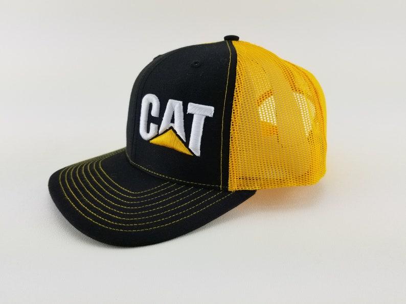 e00f860c22403 CAT CAT construction hat yellow hat cat cap vintage | Etsy