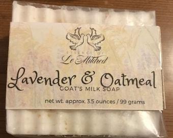 Lavender & Oatmeal Homemade Soap