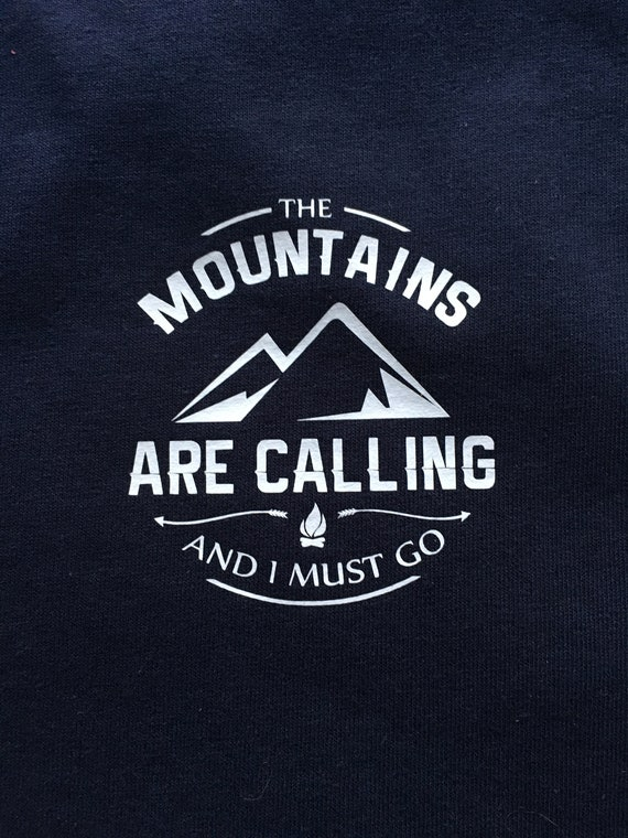27b73c6d4 The Mountains are calling and I must go John Muir Mens | Etsy