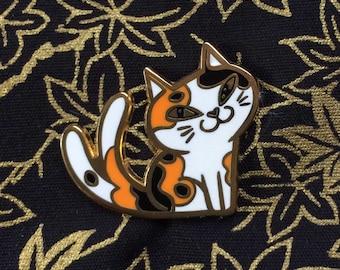 NILLY the NEKOMATA yokai enamel pin