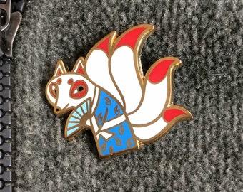 KANTA the KITSUNE yokai enamel pin