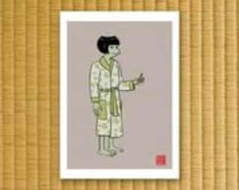 Modern Yokai print - Kappa
