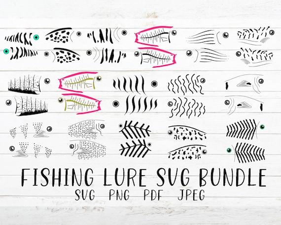 Download Fishing Lure Svg Bundle Fishing Lure Pattern Svg Cut File Etsy