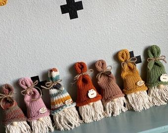 Knit Fall Gnomes