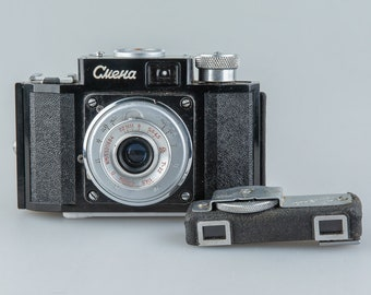 SMENA - USSR photo camera 1953 - 1962 \ in leatherette case \ 35 mm + Rangefinder Smena