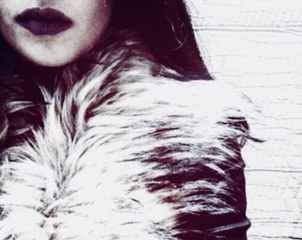 Dark Lips Wall Print