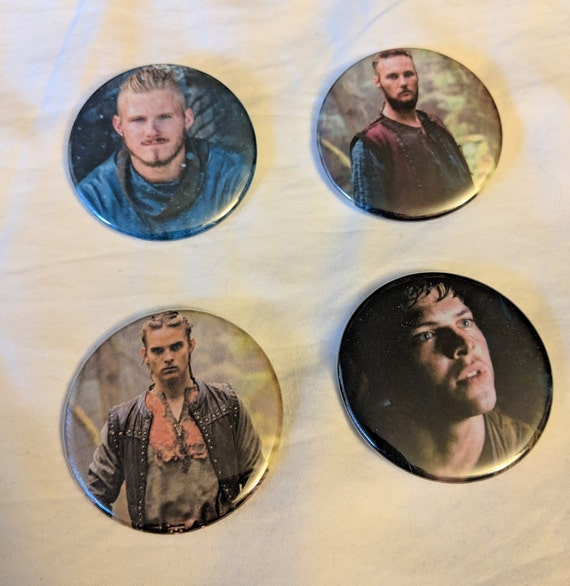Vikings on History Sons of Ragnar Lothbrok Bjorn Ironside Ubbe Hvitserk  Ivar the Boneless Magnet Pinback Button 2 25 inch