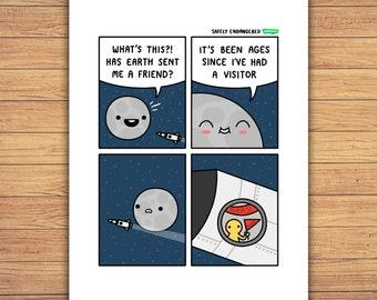 Moon - A4 Print