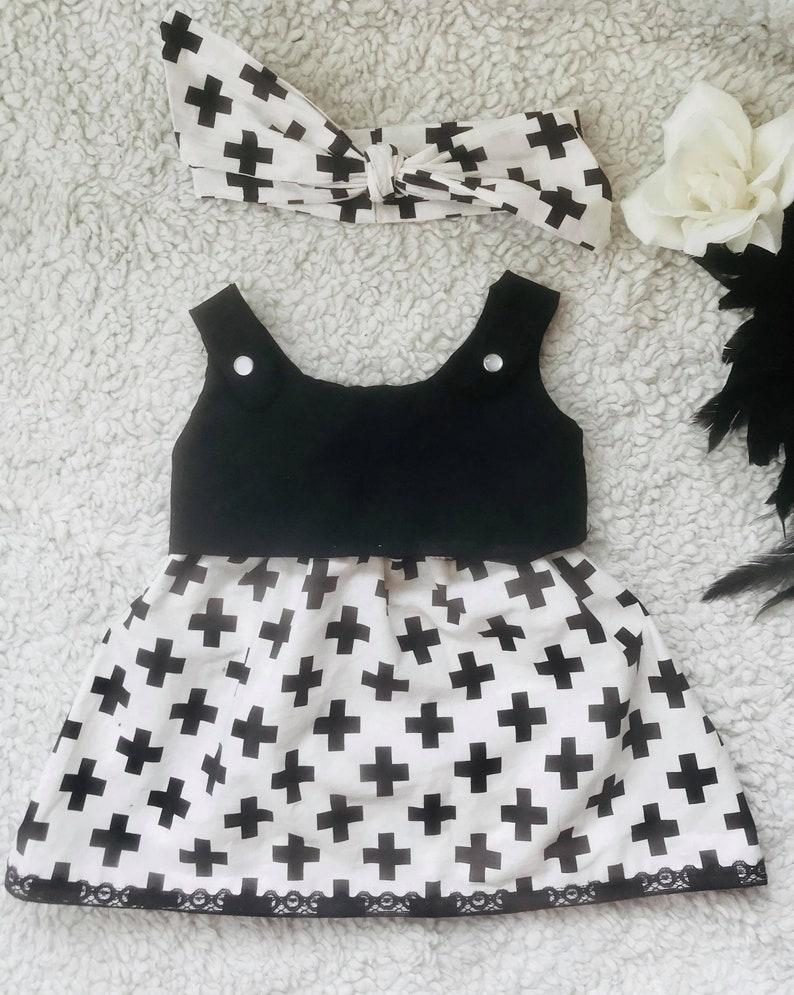 NEW Baby Girls black white gold skulls Modern Retro babygrow Headband Set Gothic