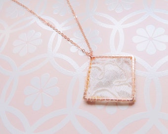 Lace pendant necklace - gold filled Necklace (gold filled) - Rose Gold