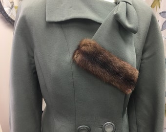 1940s Olive Green Cropped Jacket