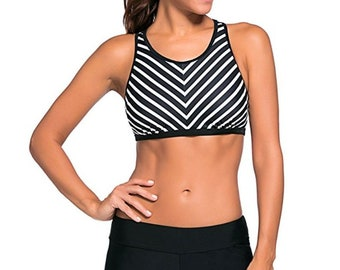 Sport Bra Swim Trunk 2pcs Swimsuit