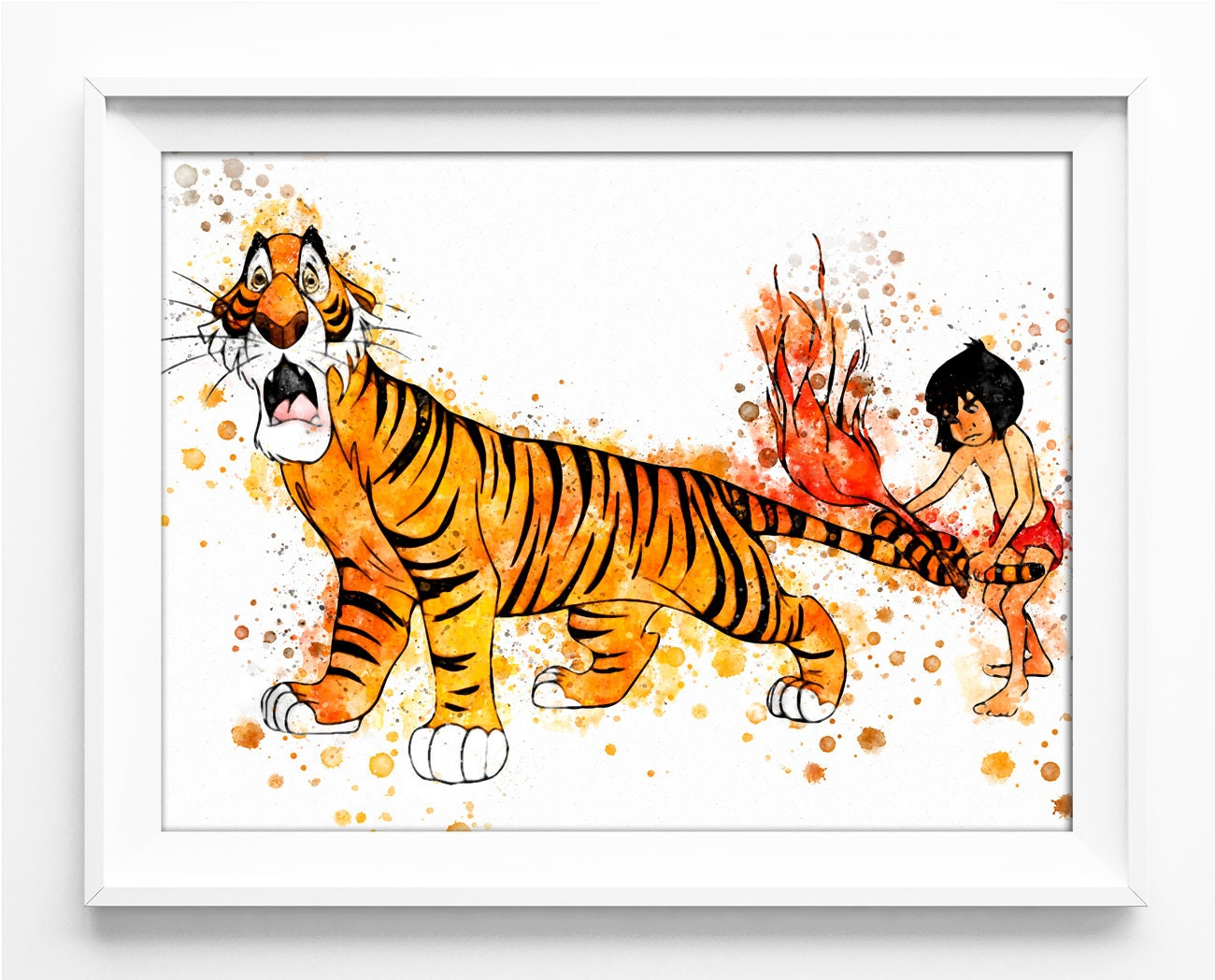 jungle book mowgli shere khan printable jungle book print | etsy