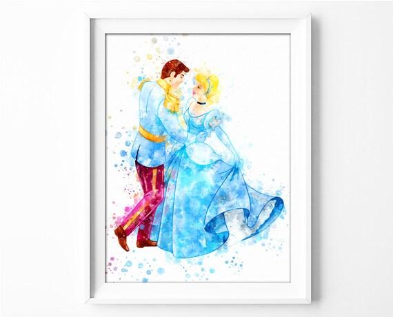 Prince and Cinderella Printable Cinderella Print Disney   Etsy
